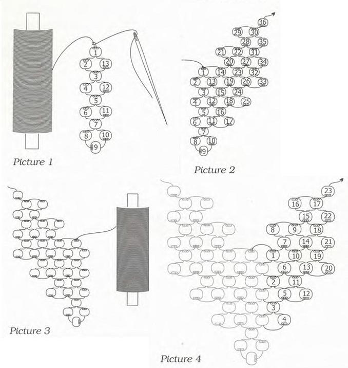 Схемы плетения бисером листочки