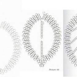 схема плетения золотого колье