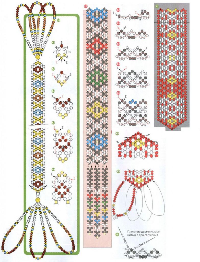 схемы закладок из бисера