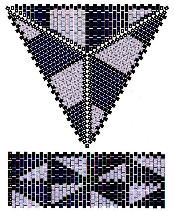 Давайте попробуем сплести треугольную шкатулку.  Для этого вам нужно знать технику плетения мозаика, или пейот.