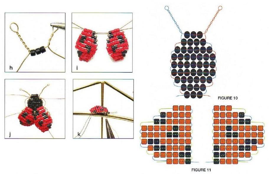 схема плетения коровки