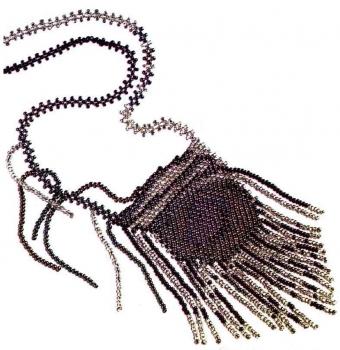 кулон перо павлина