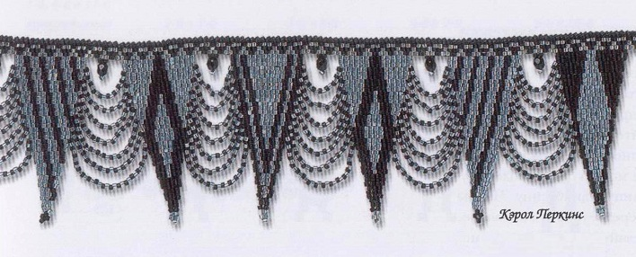 плетение ожерелья из бисера