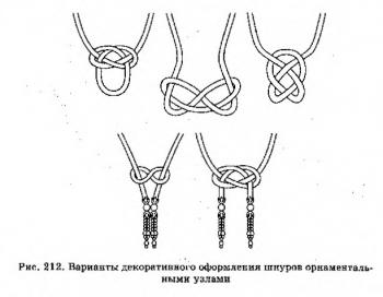 как завязать шнуры