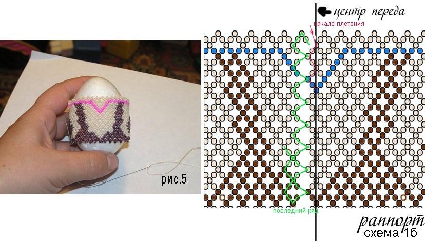 и конец сетки (схема 1б).