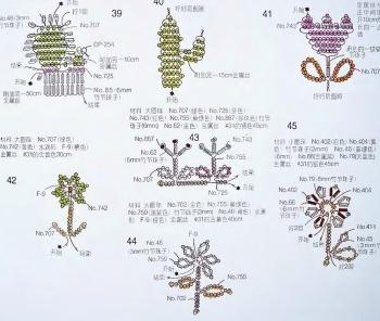 фигурки цветов