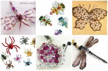 бабочки и паучки