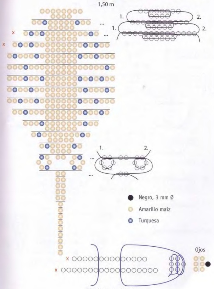 плетение ската из бисера