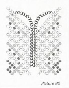 колье с бабочкой