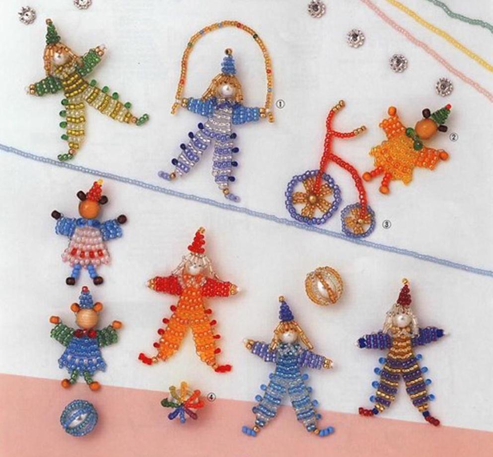 Мини-игрушки из бисера-1.