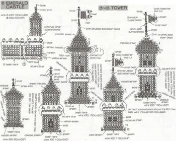 схема плетения замка