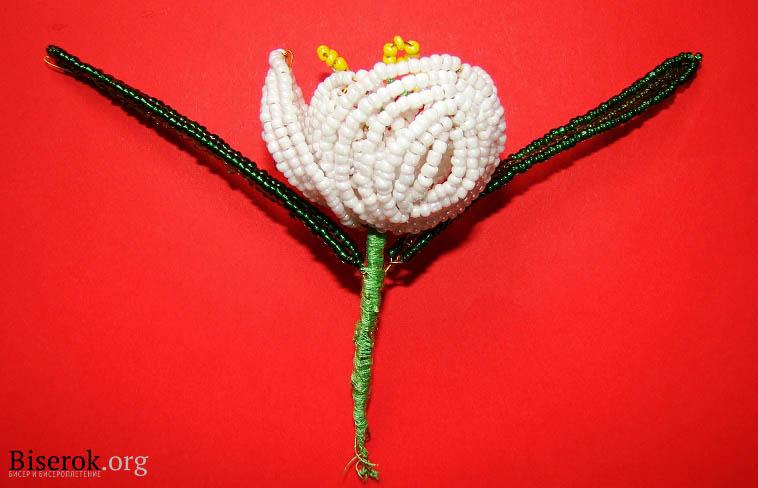 Цветы из бисера могут выполняться с помощью разных техник: мозаичное плетение, полотно.
