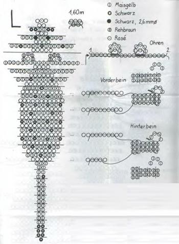 плетем пуму из бисера