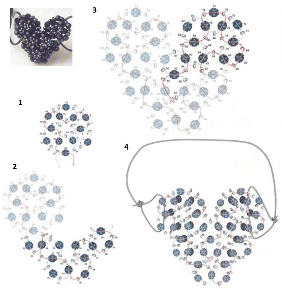 Автор: Admin Дата: 01.11.2013 Описание: 9 фев 2012 Предлагаем Вам несколько схем плетения сердечек из бисера...