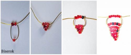 схема 1. плетение клубники.