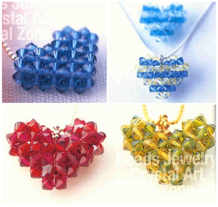 валентинки из кристаллов