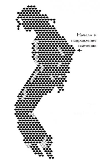 схема плетения брелка из бисера в стиле майкла ждексона