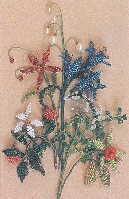 Для цветка колокольчика на рис. 150 приведены схемы лепестка и тычинок.  Тычинки можно сделать и по-другому - см...