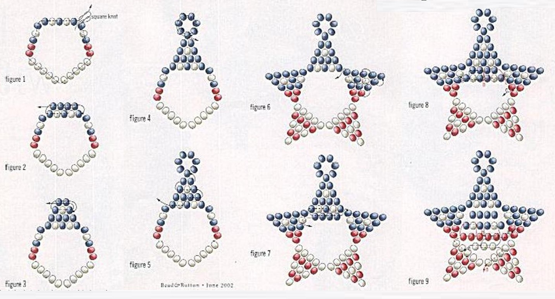 Схема сережки из бисера своими руками