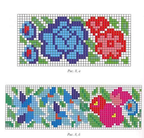 Схемы фрагментов орнамента