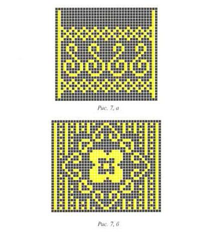 Схемы фрагментов орнамент