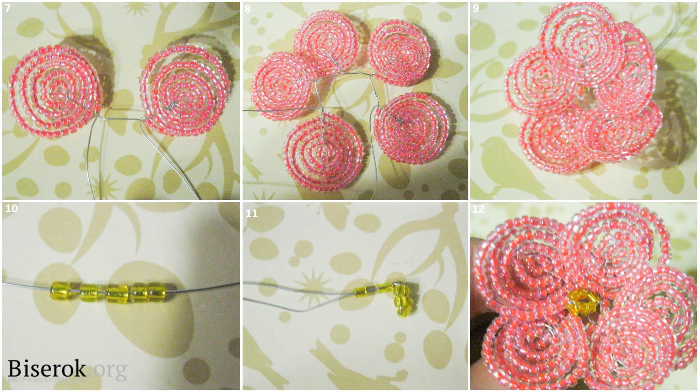Плетение бисером пошагово фото