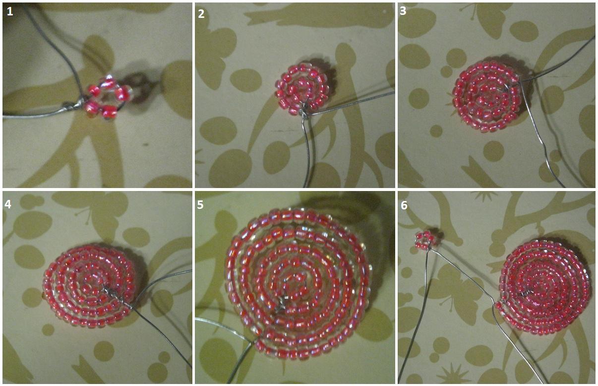 как сделать фиалку из бисера пошаговые инструкции