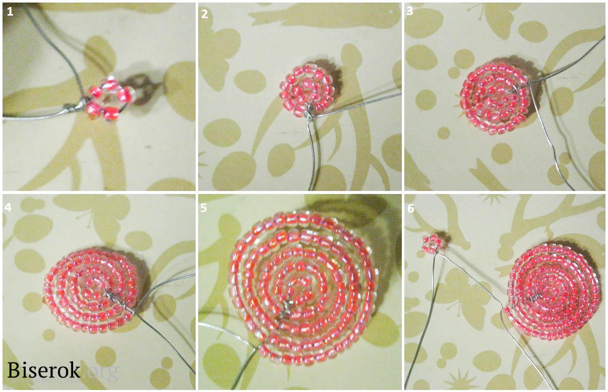 Схемы плетения фиалок с бисера