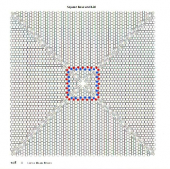Схема плетения квадрата из бисера