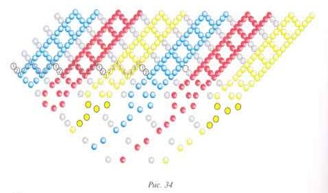 Схема для оплетения яйца бисером
