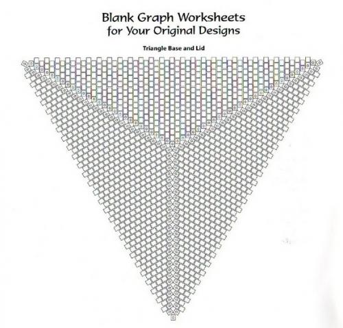 Схема для плетения треугольника из бисера