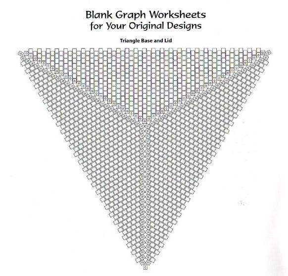 Как сплести серьги-треугольники из бисера.