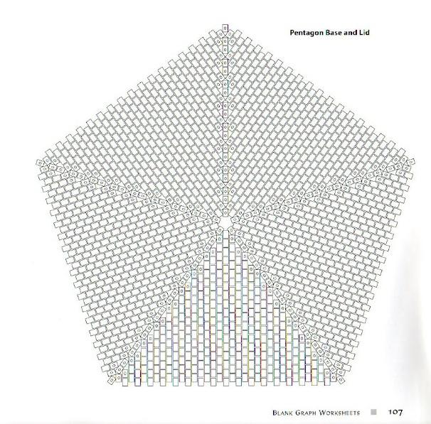 Схема плетения пятиугольника