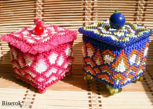 бисерные шкатулки