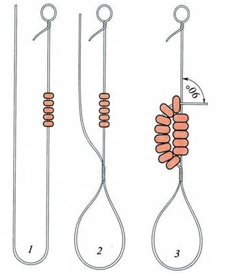 Схема плетения лепестка из бисера