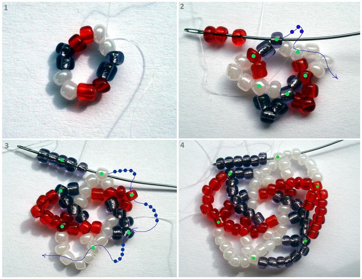 схема 1. плетение салфетки.