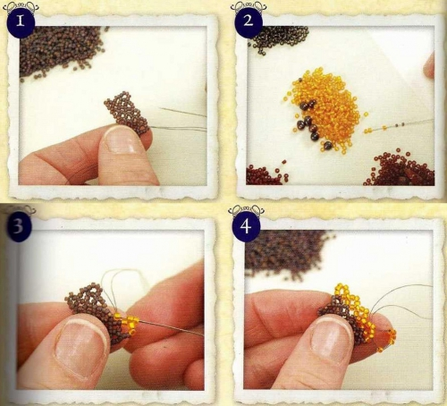 Как плести браслет-гусеница из бисера рис. 1