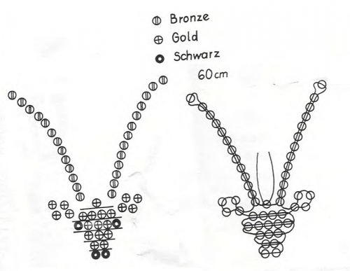 Схема плетения знака зодиака Козерог