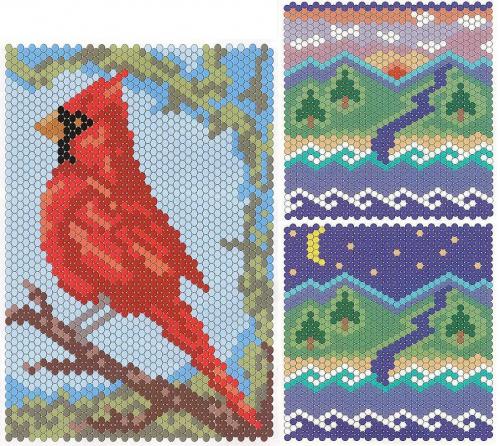 Узоры для плетения мозаики из бисера