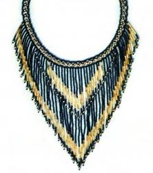 Шикарное ожерелье из бисера