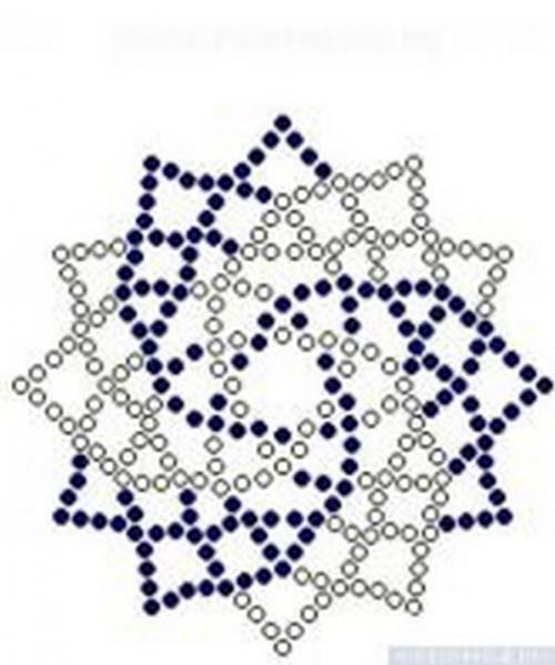 Схема для плетения салфетки из бисера
