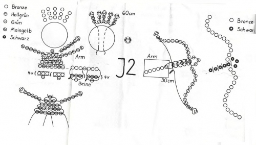 Плетем знак зодиака стрелец по схеме