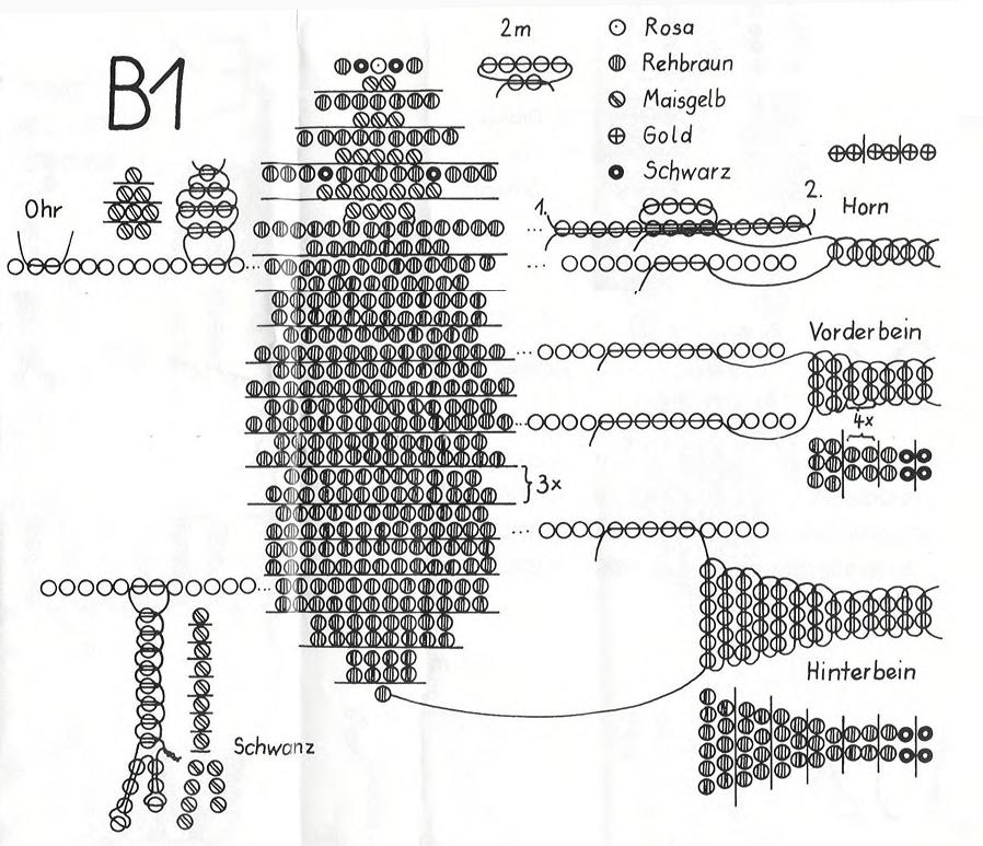 Первая схема плетения знака