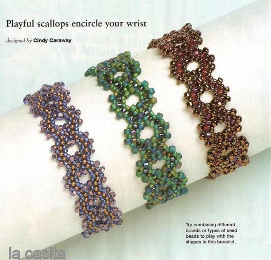 Несколько вариантов плетения браслетов из бисера, стекляруса и различных бусин.  Очень простые и доступные схемы даже...