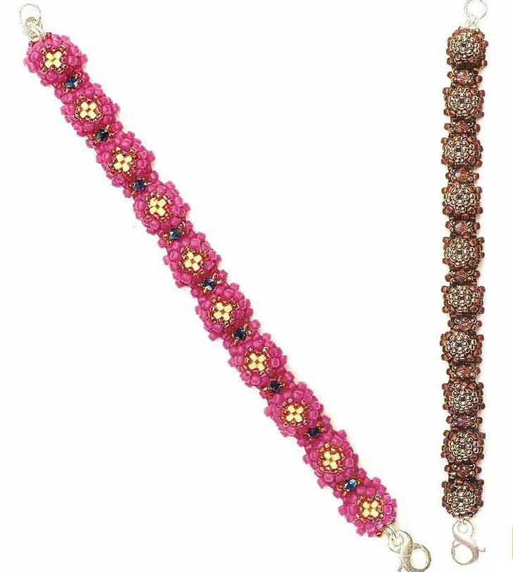 Красивые браслеты, похожи на браслет из маленьких черепашек, что сплетены из бисера.
