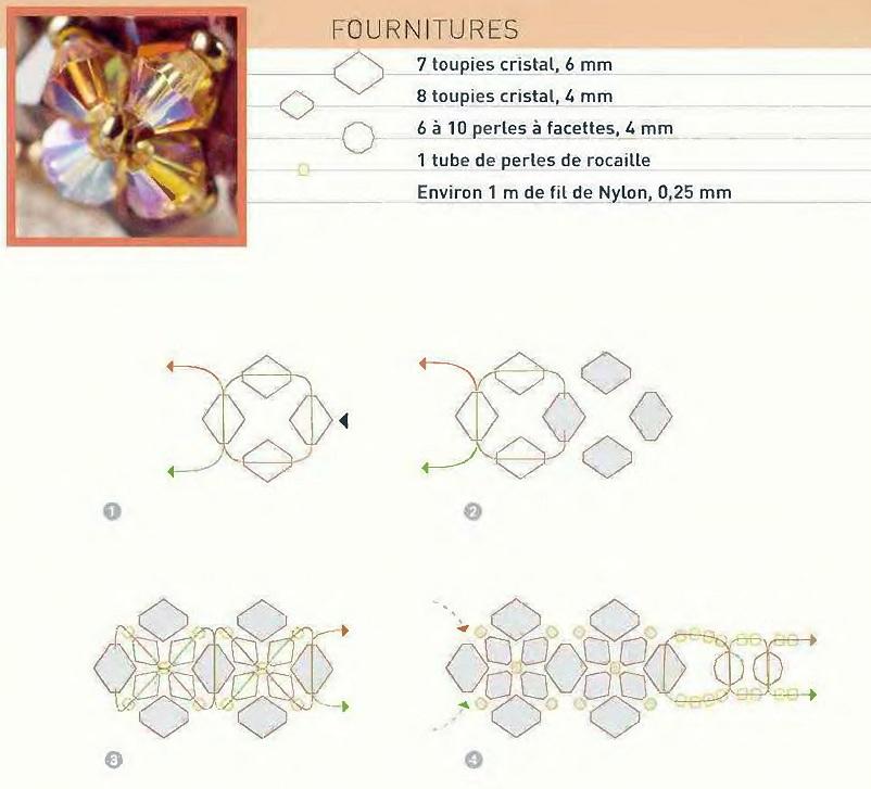 бисера Схема плетения