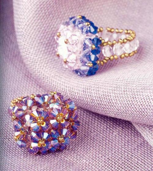 Кольца из кристаллов