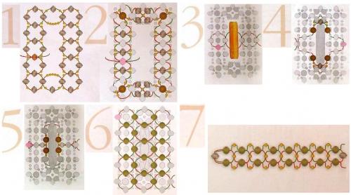 Схема плетения кольца из бисера рис. 1