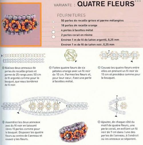 Схема плетения колец из бисера рис. 9