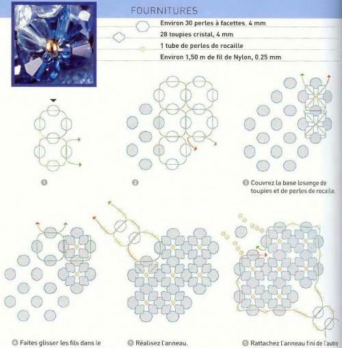 Схема плетения колец из бисера рис. 11